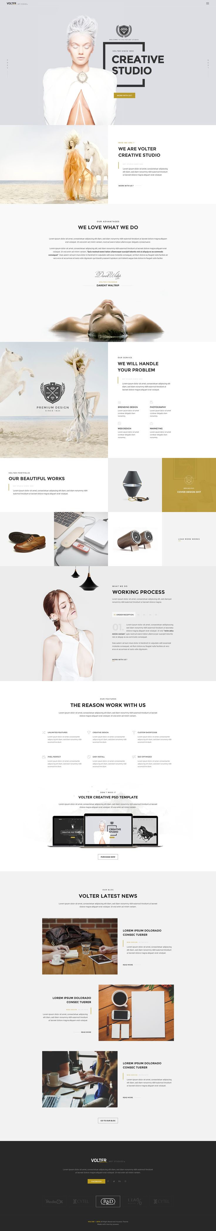 the whole package here : http://themeforest.net/item/volter-creative-psd-template/14954425