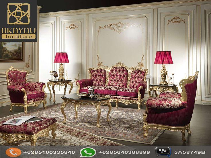 Set Sofa Tamu Mewah Terbaru Barocco Gold