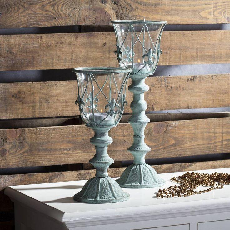 Świecznik Vidar 31cm, 14,5x14,5x31cm - Dekoria #Candlesticks #swieczki #swieczniki #home #dom #decoration #inspiration #livingroom #dekoracje #interior