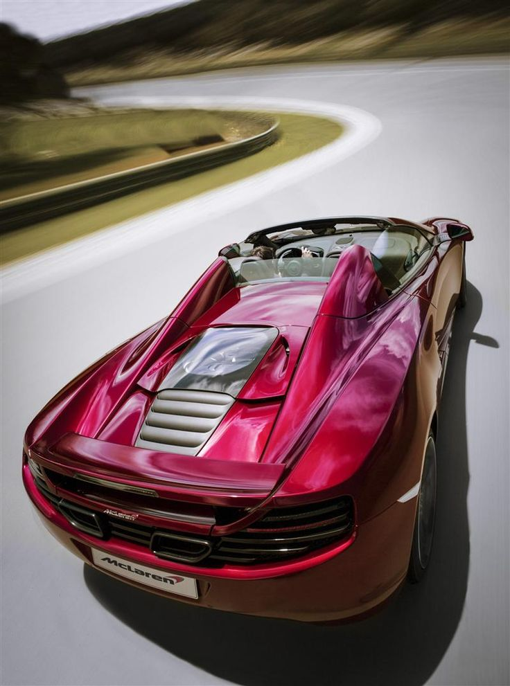 :: 2013 McLaren MP4-12C SPIDER :: Twin Turbo 3.8 Liter V-8 616 BHP 0-60 in 3.1 seconds {It only looks good from the back though}