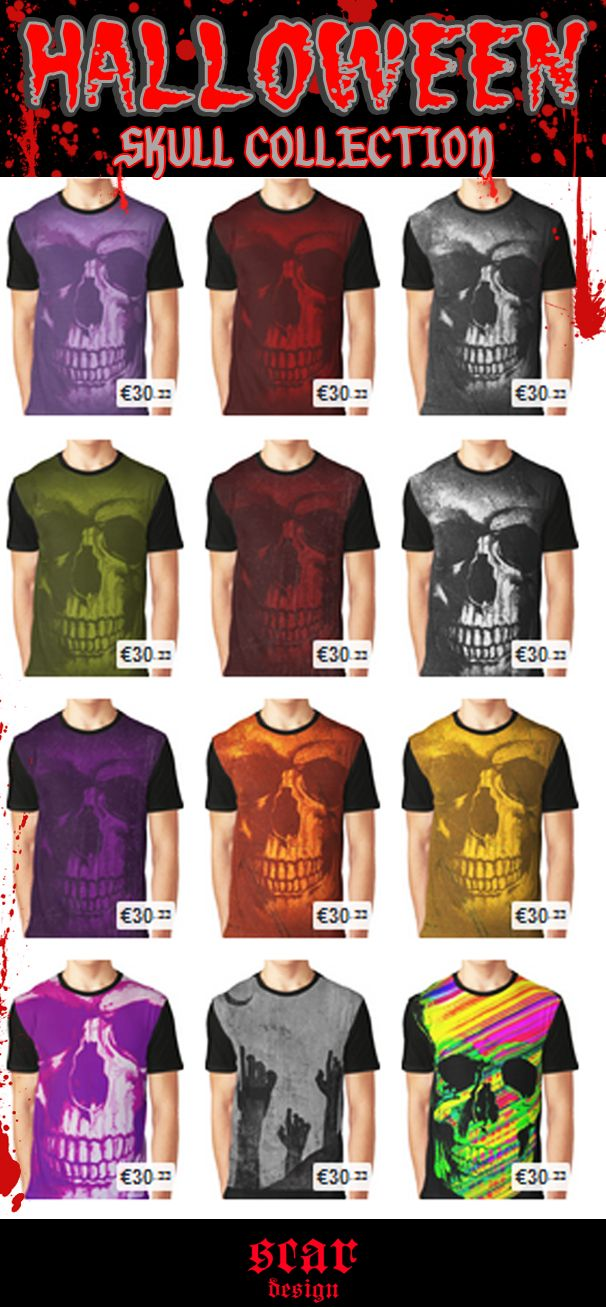Halloween Skull T-Shirts by Scar Design  #scardesign #tshirts #skulltshirts #halloweentshirts #buyhalloweentshirs #zombietshirt #zombie #buyskulltshirts #HalloweenSales #gifts #HalloweenGifts #trickortreat #diadelosmuertos #redbubble #OctoberSales #T_Shirts #HalloweenTshirts #skull #skulltshirts #HalloweenSkull #buygifts