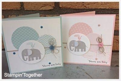 Handmade : Greeting Card : Elephant : Baby Card :