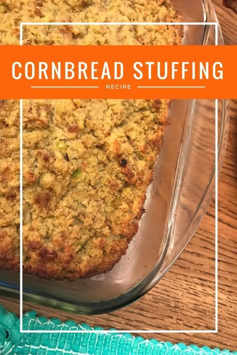 Southern Cornbread Stuffing (or Cornbread Dressing as some call it). Delicious and perfect for Thanksgiving!