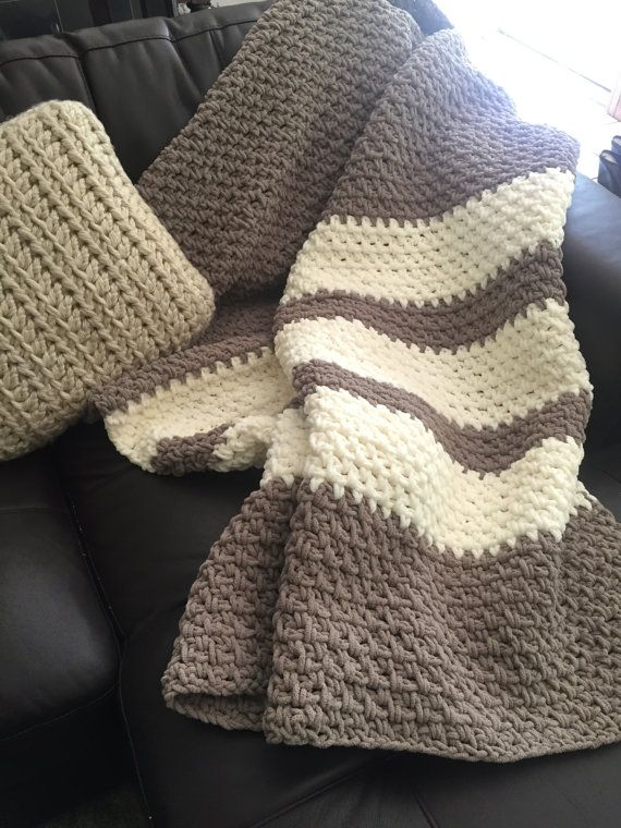 Crochet Throw Blanket Lap Blanket by ClemensCrochet on Etsy