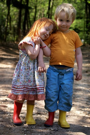 Look at the swapped boots! | Boy and girl hugging and being sweet together | Shy boy