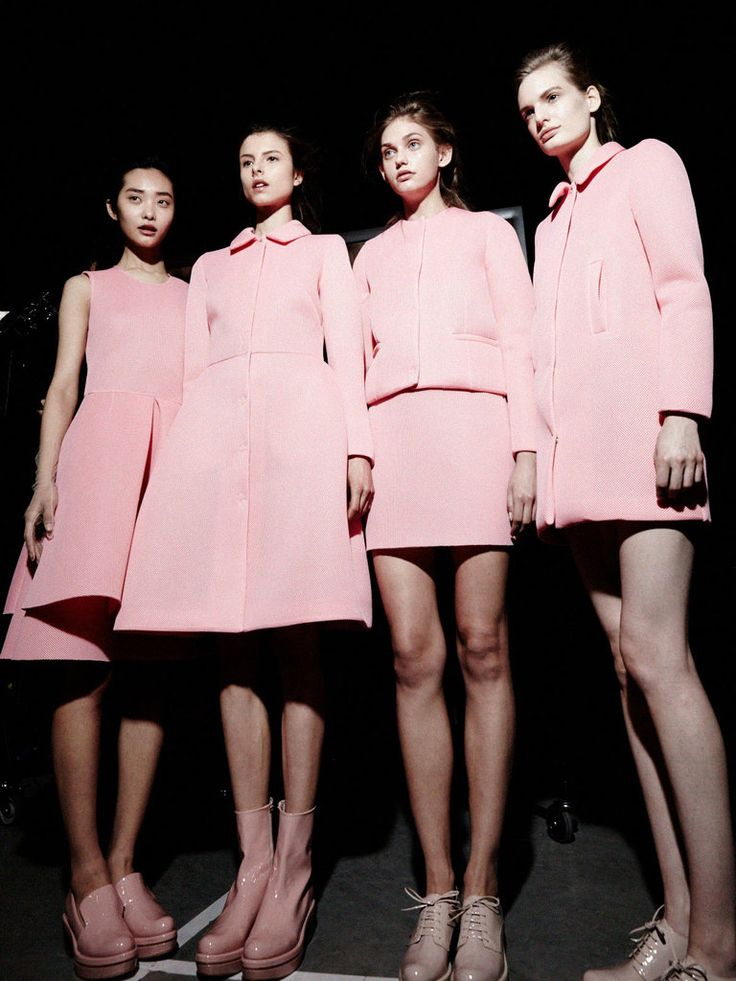 Pretty in pink... but this could work in an alien movie, too... Photos of The Moment | Simone Rocha - NYTimes.com