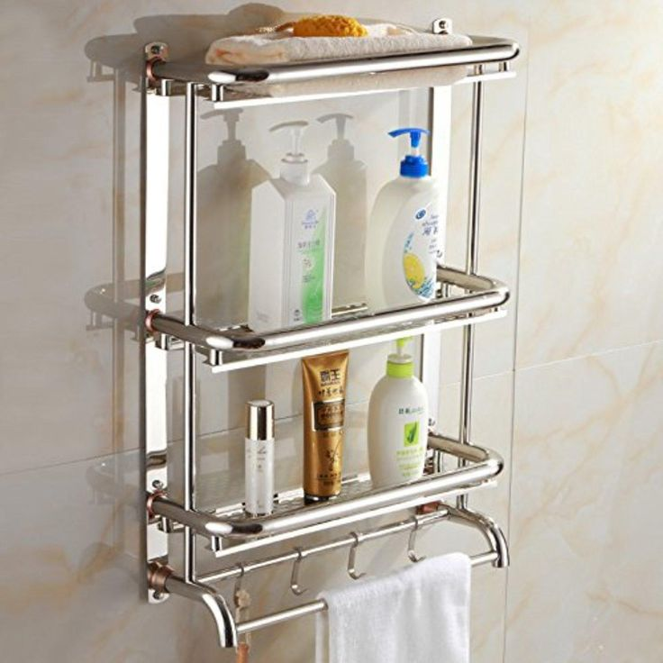 Stainless Steel Thick Towel Rack Bathroom Shelf Bathroom Towel Rack Bathroom Hardware Accessories,Section 30Cm - Brought to you by Avarsha.com
