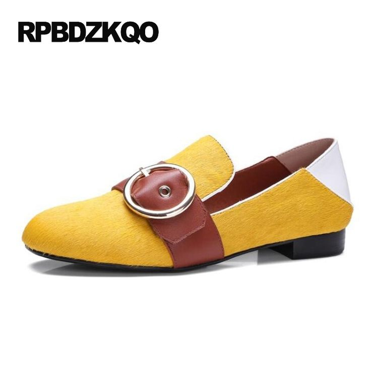 Women Designer Mules Luxury Green Yellow 2017 Slip On Ladies Slippers Famous Brand Shoes Round Toe Flats Loafers Horsehair #Affiliate