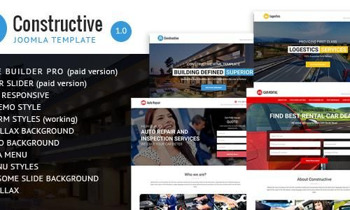 Introduction Constructive is a Construction & Contractors Multi-purpose Joomla Template + Page Builder PRO Template. Constructive is an Ideal choice for Con