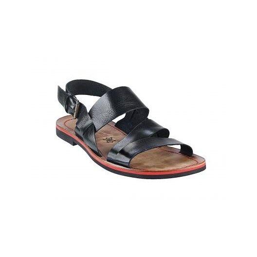 Pánske kožené sandále čierne PT119 - manozo.hu