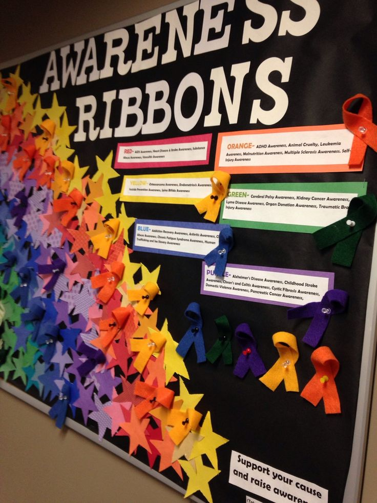 "taylordonahue: ""Awareness Ribbons Bulletin Board Mansfield University """