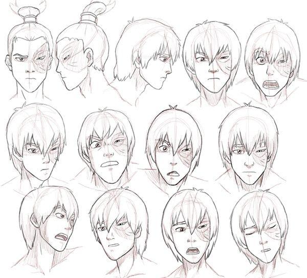 Avatar Last Airbender Character Design : Avatar the last airbender zuko expressions pinterest