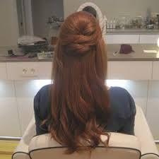 Resultado de imagen para peinados medio recogidos para fiesta
