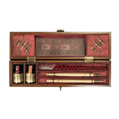 I would love one of these...a lot bit pricey though...Windsor Prose Writing Set - Antique Style Office and Writing Accessories, Writing Sets and Tools