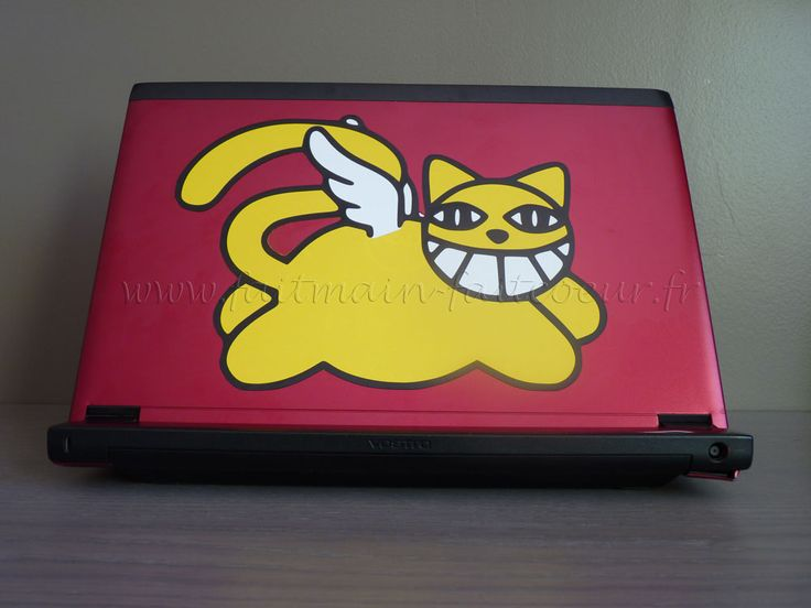 Sticker M Chat - Tricolore (Three colors laptop decal- Mr Chat)