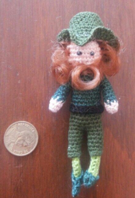 Leprechaun crochet, Amigurumi duende irlandés.