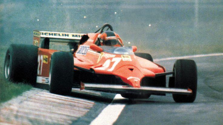 Gilles Villeneuve displaying his trademark sideways style, Argentina 1981. Copyright International Press Agency