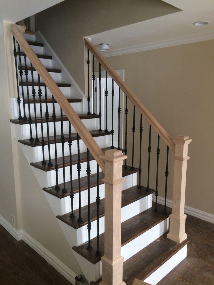 Custom railing with metal spindles