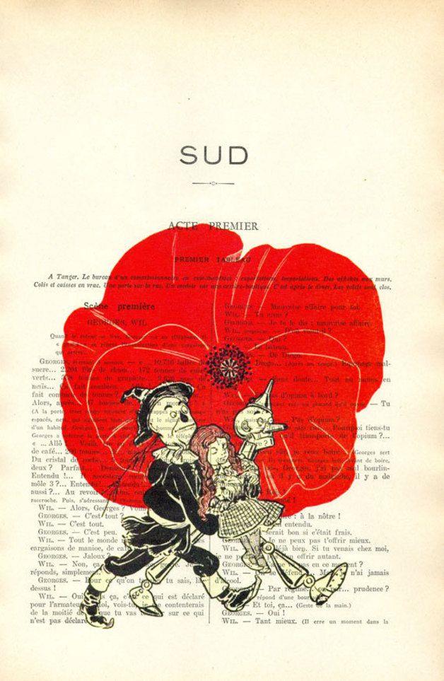 Illustrationen - Der Zauberer von Oz - Dorothy, Vogelscheuche Druck - ein Designerstück von MadameMemento bei DaWanda