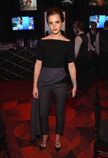 Emma Watson Photos - TIME 100 Gala, TIME's 100 Most Influential People In The World - Cocktails - Zimbio