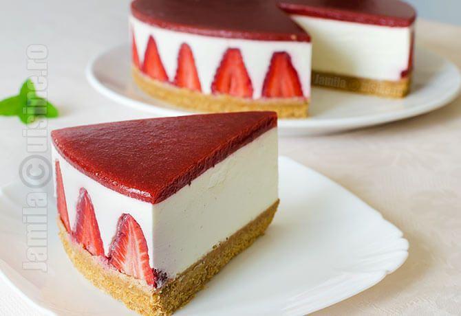 Cheesecake fara coacere – reteta video via @JamilaCuisine