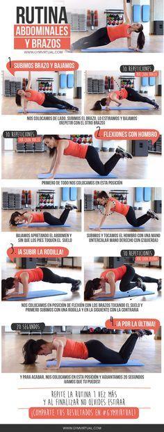 Rutina de abdominales y brazos