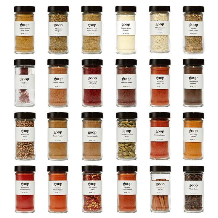 This exclusive-to-goop, 24-piece kit was assembled to include every single spice and seasoning used in GP's newest cookbook, It's All Easy. The assortment is a
