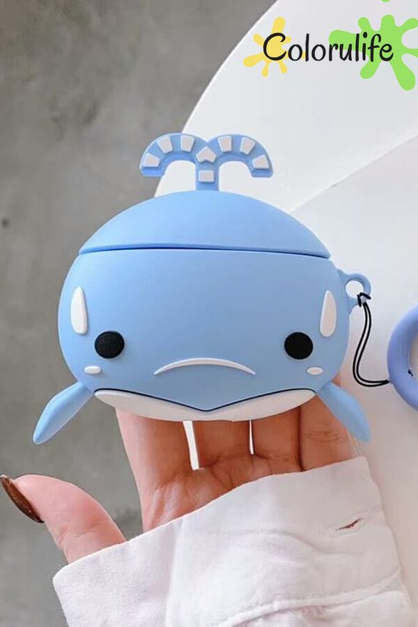 Cute Whale Animal Airpods 1 2 And Airpod Pro Case Cover Airpod
