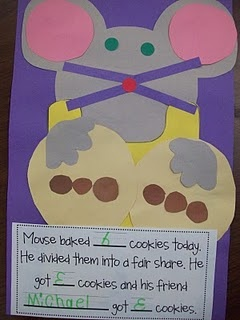 """Equal parts...could possibly tie into """"If You Give a Mouse a Cookie"""""""
