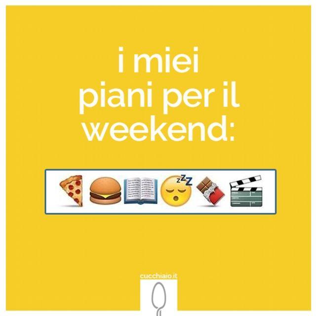 Piani per il weekend