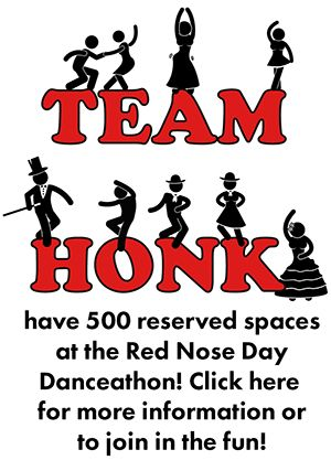 Team Honk joins in Red Nose Day Danceathon 2015