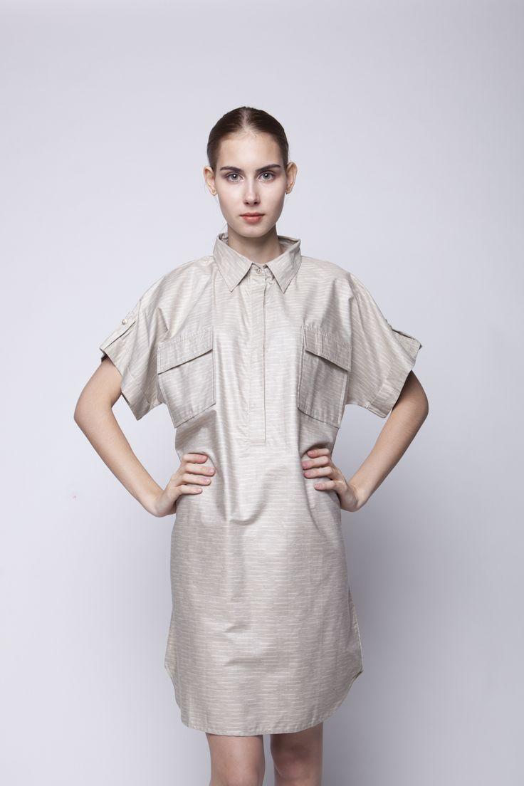 Kifa Shirt Dress Cream   Rp 206.250