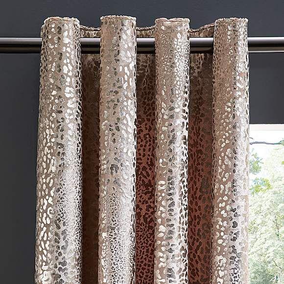 Metallic Leopard Gold Velvet Eyelet Curtains In 2020 Gold Velvet
