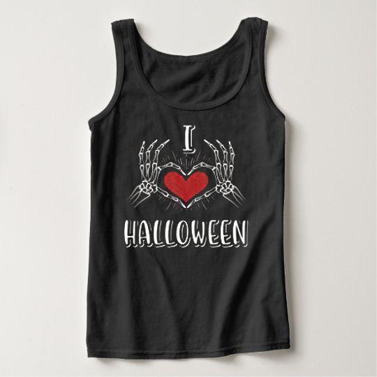 I Love Heart Halloween Custom Tanktops