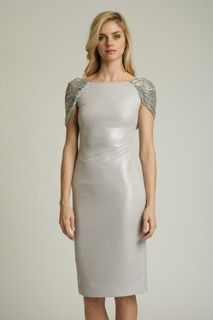 Badgley Mischka silver Gown