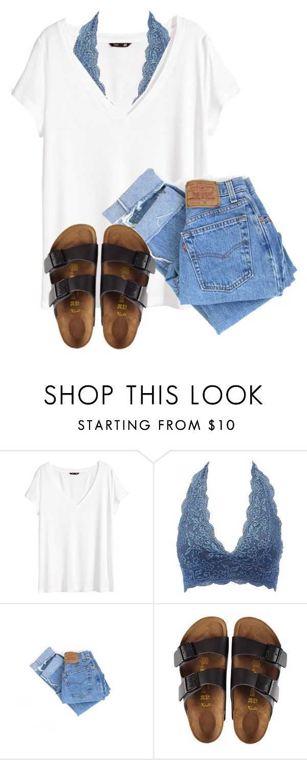 """I'm sick "" by christyaphan ❤ liked on Polyvore featuring H&M, Charlotte Russe, Levi's and Birkenstock"