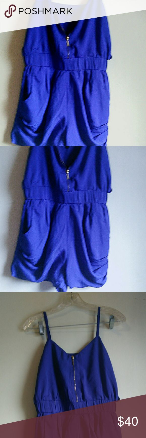 Cobalt blue romper, xs, lucci couture Adorable romper with zipper, accentuated waist, by lucci couture,size xs Lucca Couture Other