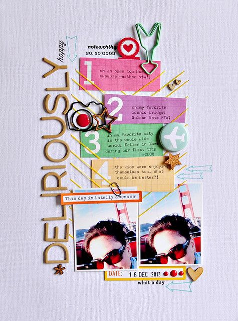 Sasha Farina -- I so love how she uses this Elle's Studio Penelope journaling card.