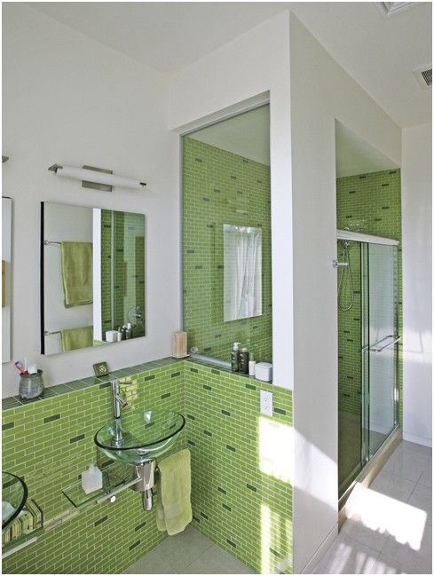 awesome Fresh Light Green Bathroom Tiles