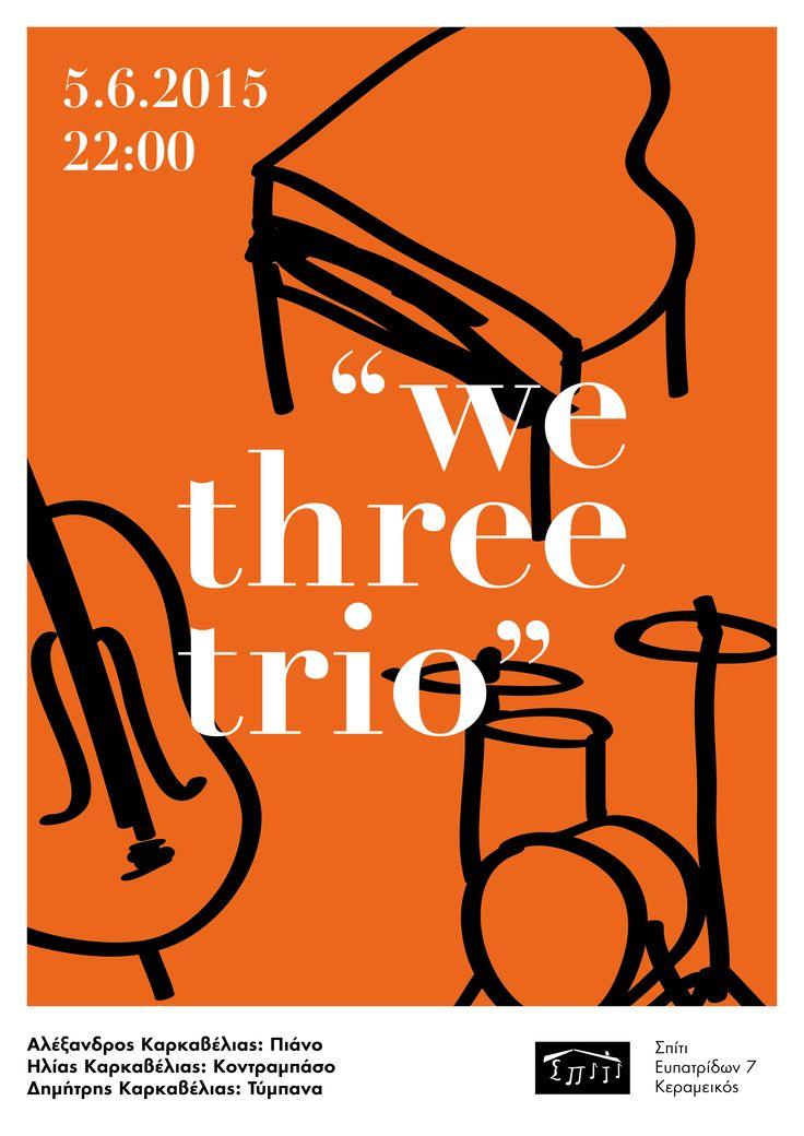 We three trio poster by Sofia Braila