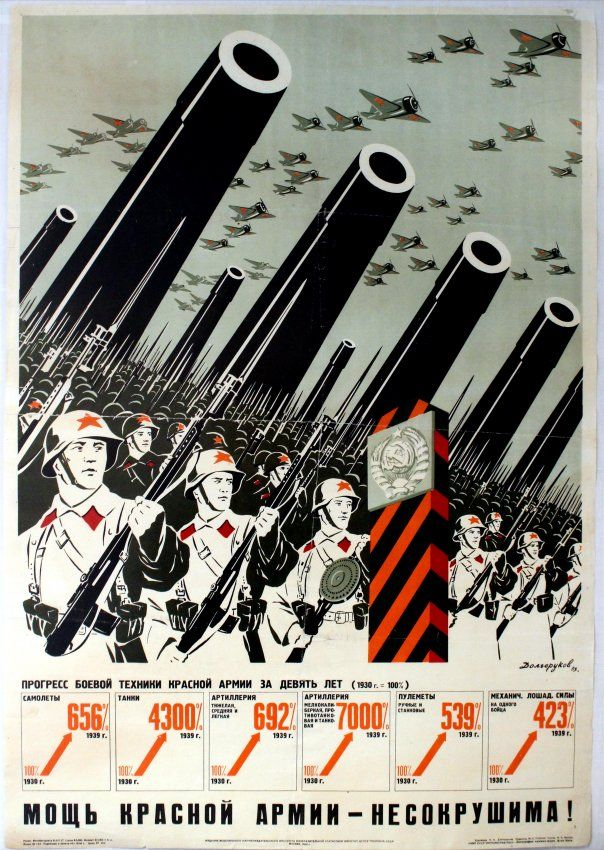 "Lot of the Day: ""Posters from Russia and the USSR"" Auction on Saturday 28 May. View catalogue & register to bid at https://www.liveauctioneers.com/item/45339226_propaganda-poster-the-strength-of-the-red-army #LotOfTheDay #Soviet #Propaganda #Advertising #Poster #Auction #RedArmy"
