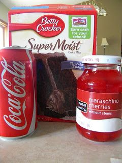Sincerely Stacie: Recipe: Chocolate Cherry Coke Cake