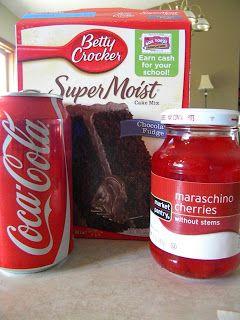 Sincerely Stacie: Recipe: Chocolate Cherry Coke Cake