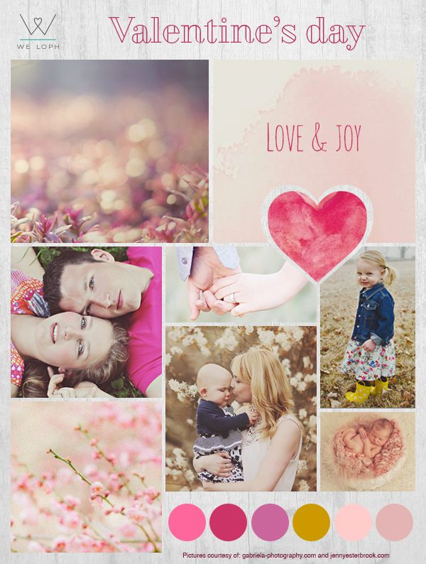 Valentine's day  www.weloph.com  #love #pink #palette #colors #cards #valentinesday