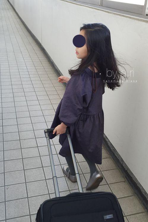 purple corduroy dress