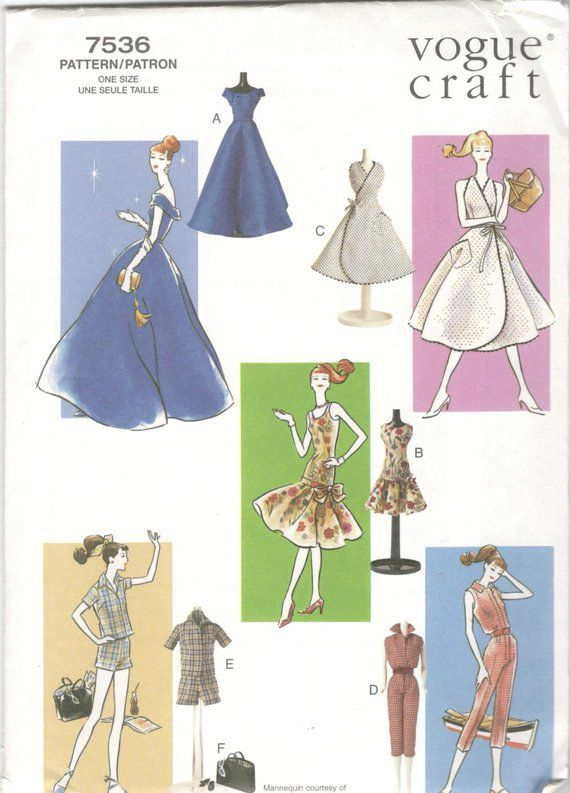 Vintage 60s Barbie Stacey Dress Pattern Christie Midge Tammy Doll Clothes