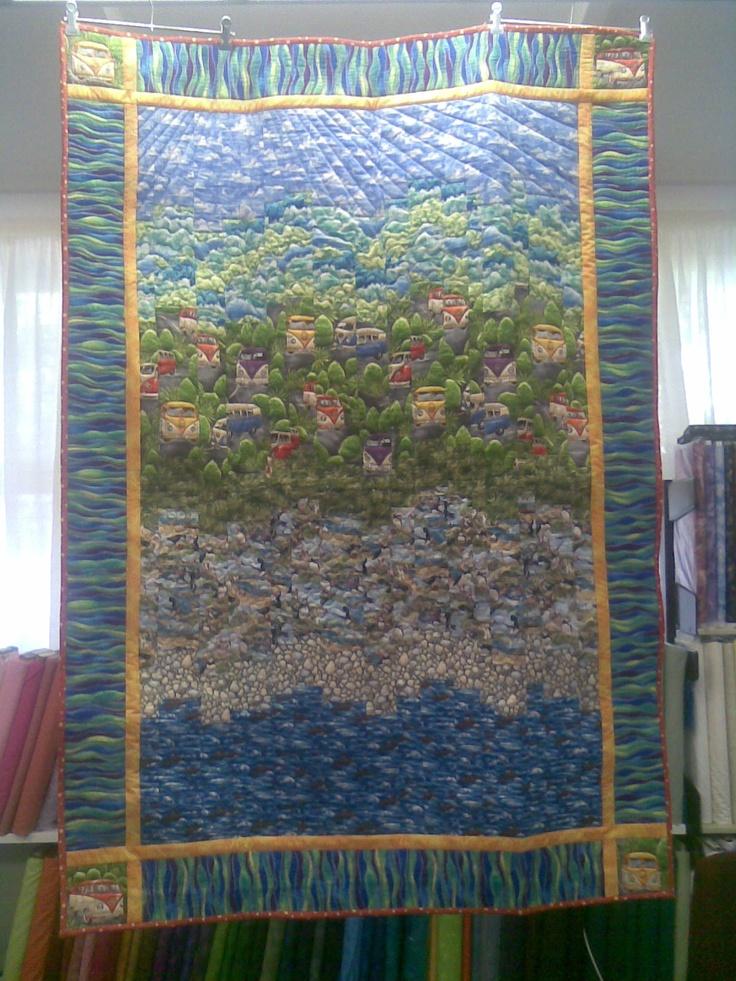 """Seaside"" Feb 2013  (Pattern & Kit available from Little Desert Quilts)"