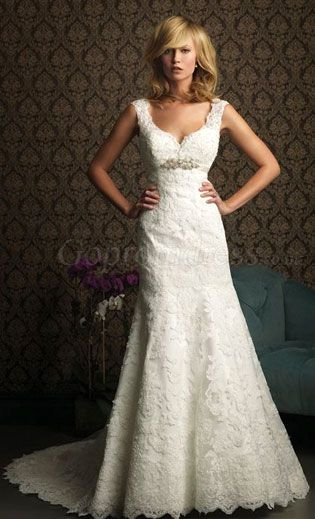 lace wedding dress  THIS COULD BE THE ONE I love it!