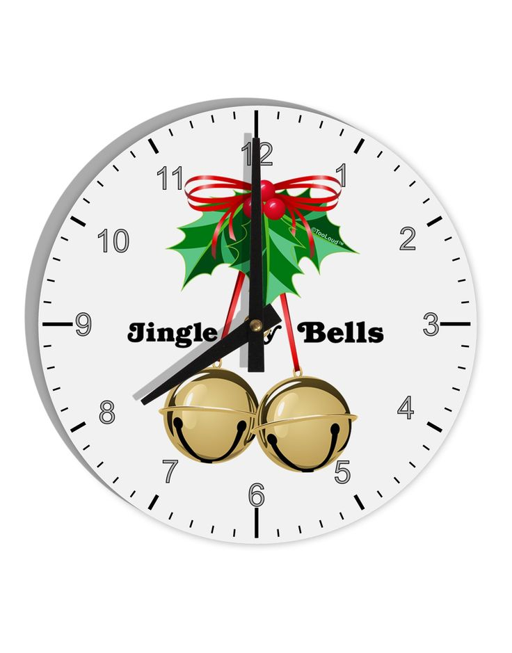 """Jingle My Bells 8"""" Round Wall Clock with Numbers"""