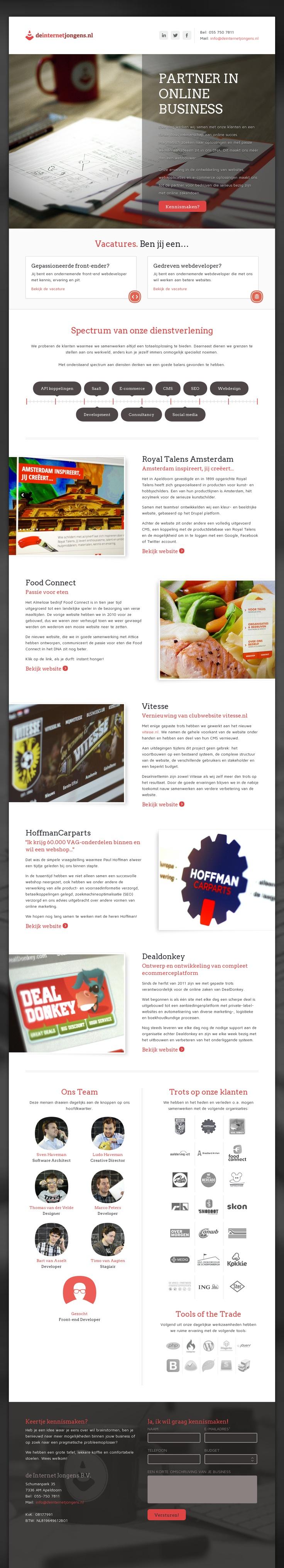 Website 'http://www.deinternetjongens.nl/' snapped on Snapito!